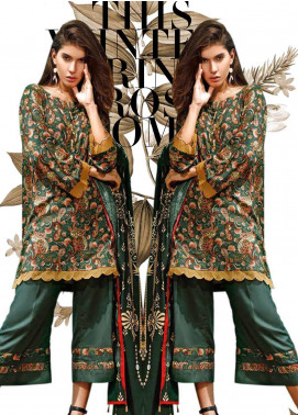 Ittehad Textiles Printed Linen Unstitched 3 Piece Suit ITJ19L 2520A - Fall Collection