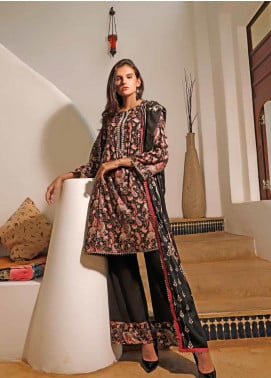 Ittehad Textiles Printed Linen Unstitched 3 Piece Suit ITJ19L 2520B - Fall Collection