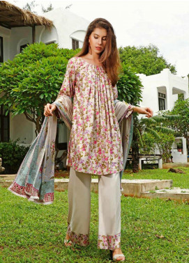 Ittehad Textiles Printed Linen Unstitched 3 Piece Suit ITJ19L 2521A - Fall Collection