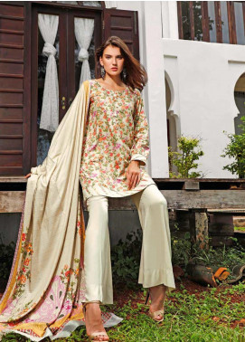 Ittehad Textiles Printed Linen Unstitched 3 Piece Suit ITJ19L 2521B - Fall Collection