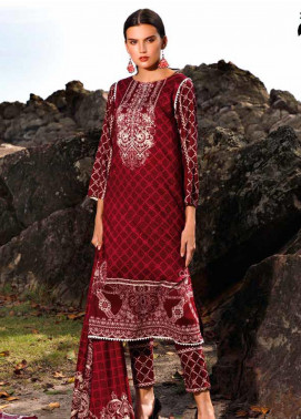 Ittehad Textiles Printed Linen Unstitched 3 Piece Suit ITJ19L 2522A - Fall Collection