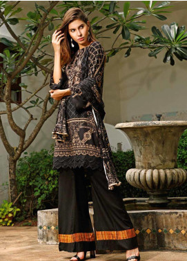 Ittehad Textiles Printed Linen Unstitched 3 Piece Suit ITJ19L 2522B - Fall Collection