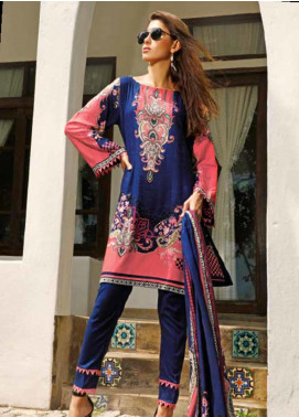 Ittehad Textiles Printed Linen Unstitched 3 Piece Suit ITJ19L 2523A - Fall Collection