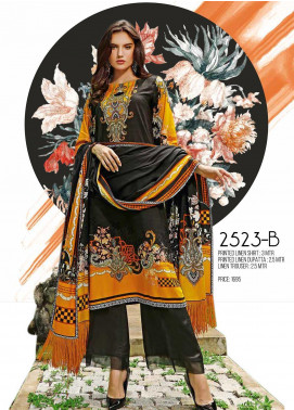 Ittehad Textiles Printed Linen Unstitched 3 Piece Suit ITJ19L 2523B - Fall Collection