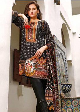 Ittehad Textiles Printed Linen Unstitched 3 Piece Suit ITJ19L 2524A - Fall Collection