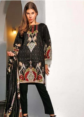 Ittehad Textiles Printed Linen Unstitched 3 Piece Suit ITJ19L 2525B - Fall Collection