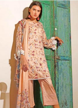 Ittehad Textiles Printed Linen Unstitched 3 Piece Suit ITJ19L 2527A - Fall Collection