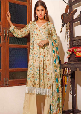 Ittehad Textiles Printed Linen Unstitched 3 Piece Suit ITJ19L 2527B - Fall Collection