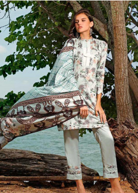 Ittehad Textiles Printed Linen Unstitched 3 Piece Suit ITJ19L 2528A - Fall Collection