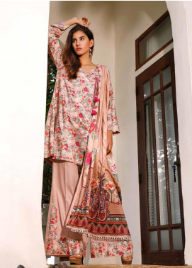 Ittehad Textiles Printed Linen Unstitched 3 Piece Suit ITJ19L 2529B - Fall Collection