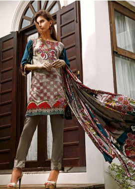 Ittehad Textiles Printed Linen Unstitched 3 Piece Suit ITJ19L 2530B - Fall Collection