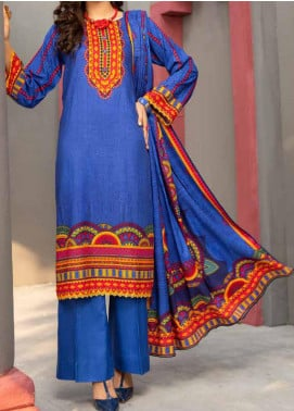 Jhalak by Ittehad Textiles Printed Linen Unstitched 3 Piece Suit ITD20J 1603-A - Winter Collection