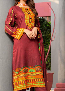 Jhalak by Ittehad Textiles Printed Linen Unstitched 3 Piece Suit ITD20J 1603-B - Winter Collection