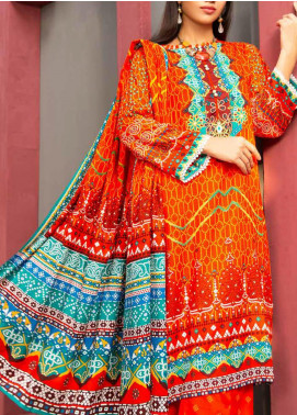 Jhalak by Ittehad Textiles Printed Linen Unstitched 3 Piece Suit ITD20J 1605-B - Winter Collection