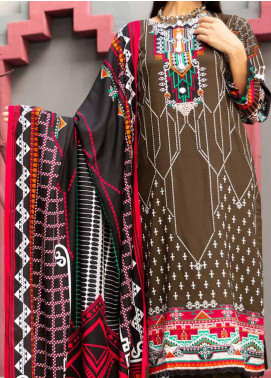 Jhalak by Ittehad Textiles Printed Linen Unstitched 3 Piece Suit ITD20J 1606-B - Winter Collection