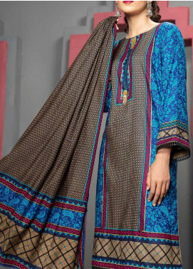Jhalak by Ittehad Textiles Printed Linen Unstitched 3 Piece Suit ITD20J 1611-B - Winter Collection