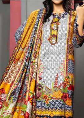 Jhalak by Ittehad Textiles Printed Linen Unstitched 3 Piece Suit ITD20J 1612-A - Winter Collection