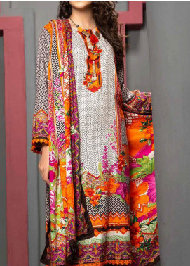 Jhalak by Ittehad Textiles Printed Linen Unstitched 3 Piece Suit ITD20J 1612-B - Winter Collection