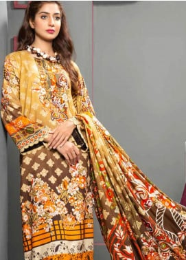 Jhalak by Ittehad Textiles Printed Linen Unstitched 3 Piece Suit ITD20J 1613-A - Winter Collection