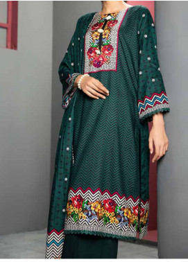 Jhalak by Ittehad Textiles Printed Linen Unstitched 3 Piece Suit ITD20J 1614-B - Winter Collection