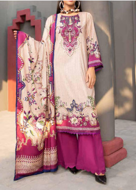 Jhalak by Ittehad Textiles Printed Linen Unstitched 3 Piece Suit ITD20J 1615-A - Winter Collection