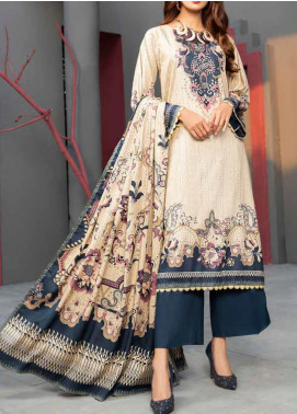Jhalak by Ittehad Textiles Printed Linen Unstitched 3 Piece Suit ITD20J 1615-B - Winter Collection