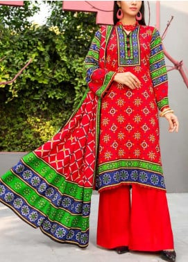 Jhalak by Ittehad Textiles Printed Linen Unstitched 3 Piece Suit ITD20J 1616-B - Winter Collection