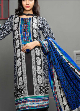 Jhalak by Ittehad Textiles Printed Linen Unstitched 3 Piece Suit ITD20J 1617-A - Winter Collection