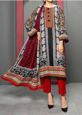Jhalak by Ittehad Textiles Printed Linen Unstitched 3 Piece Suit ITD20J 1617-B - Winter Collection