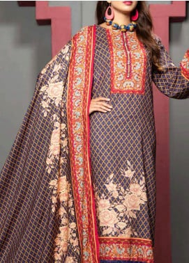 Jhalak by Ittehad Textiles Printed Linen Unstitched 3 Piece Suit ITD20J 1618-A - Winter Collection