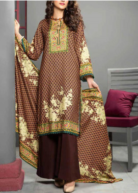 Jhalak by Ittehad Textiles Printed Linen Unstitched 3 Piece Suit ITD20J 1618-B - Winter Collection