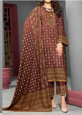 Jhalak by Ittehad Textiles Printed Linen Unstitched 3 Piece Suit ITD20J 1619-B - Winter Collection