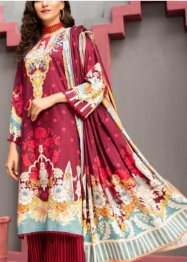 Jhalak by Ittehad Textiles Printed Linen Unstitched 3 Piece Suit ITD20J 1620-A - Winter Collection
