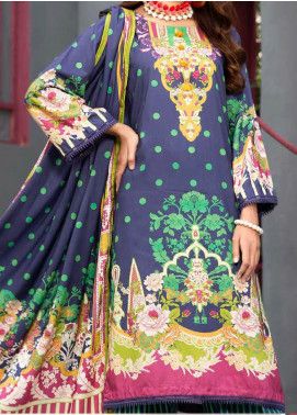 Jhalak by Ittehad Textiles Printed Linen Unstitched 3 Piece Suit ITD20J 1620-B - Winter Collection