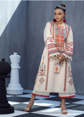 Ittehad Textiles Printed Cotton Satin Unstitched Kurties IT20C AZTEC 15 - Spring / Summer Collection