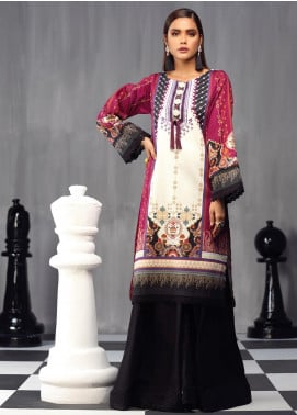 Ittehad Textiles Printed Cotton Satin Unstitched Kurties IT20C FROZEN DREAMS 01 - Spring / Summer Collection