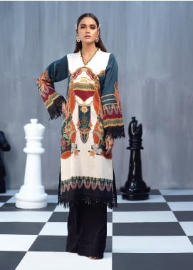 Ittehad Textiles Printed Cotton Satin Unstitched Kurties IT20C HOLLYHOCK 04 - Spring / Summer Collection