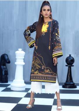 Ittehad Textiles Printed Cotton Satin Unstitched Kurties IT20C MIDNIGHT FIRE 08 - Spring / Summer Collection