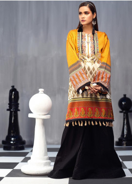 Ittehad Textiles Printed Cotton Satin Unstitched Kurties IT20C PAISLEY PARK 02 - Spring / Summer Collection