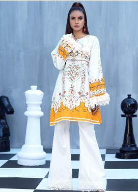 Ittehad Textiles Printed Cotton Satin Unstitched Kurties IT20C PRIWINKLE 07 - Spring / Summer Collection