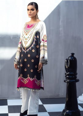 Ittehad Textiles Printed Cotton Satin Unstitched Kurties IT20C SHAMROCK 12 - Spring / Summer Collection