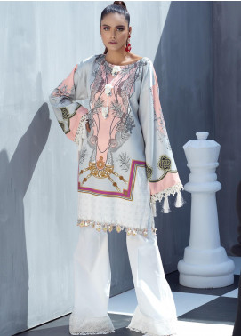 Ittehad Textiles Printed Cotton Satin Unstitched Kurties IT20C SNOW DROP 17 - Spring / Summer Collection