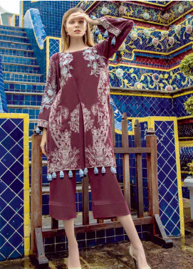 Ittehad Textiles Embroidered Linen Unstitched Kurties ITD19RW JUNEBERRY - Winter Collection