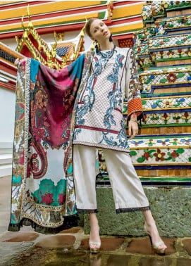 Ittehad Textiles Embroidered Khaddar Unstitched 3 Piece Suit ITD19RW PEARL CHINTZ - Winter Collection