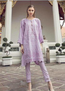 Ittehad Textiles Embroidered Linen Unstitched Kurties ITD19RW PURPLE PASSION - Winter Collection