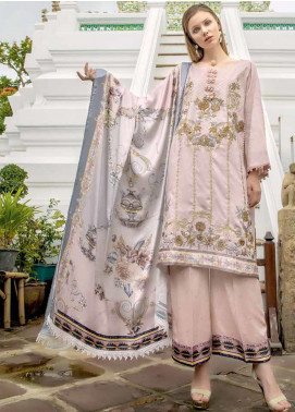 Ittehad Textiles Embroidered Linen Unstitched 3 Piece Suit ITD19RW SINGING TULIPS - Winter Collection