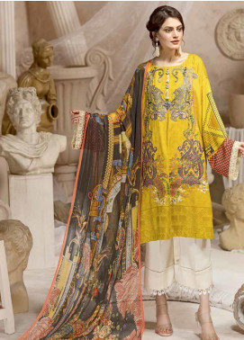 Ittehad Textiles Embroidered Cottel Linen Unstitched 3 Piece Suit ITD19W AMBER - Winter Collection