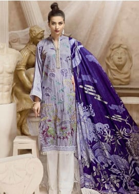 Ittehad Textiles Embroidered Cottel Linen Unstitched 3 Piece Suit ITD19W ANORA - Winter Collection