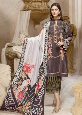 Ittehad Textiles Embroidered Khaddar Unstitched 3 Piece Suit ITD19W DOVE - Winter Collection