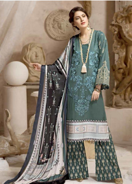 Ittehad Textiles Embroidered Khaddar Unstitched 3 Piece Suit ITD19W JADE - Winter Collection